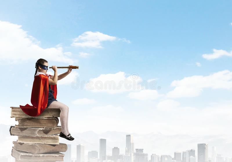 Petit superhero photographie stock libre de droits
