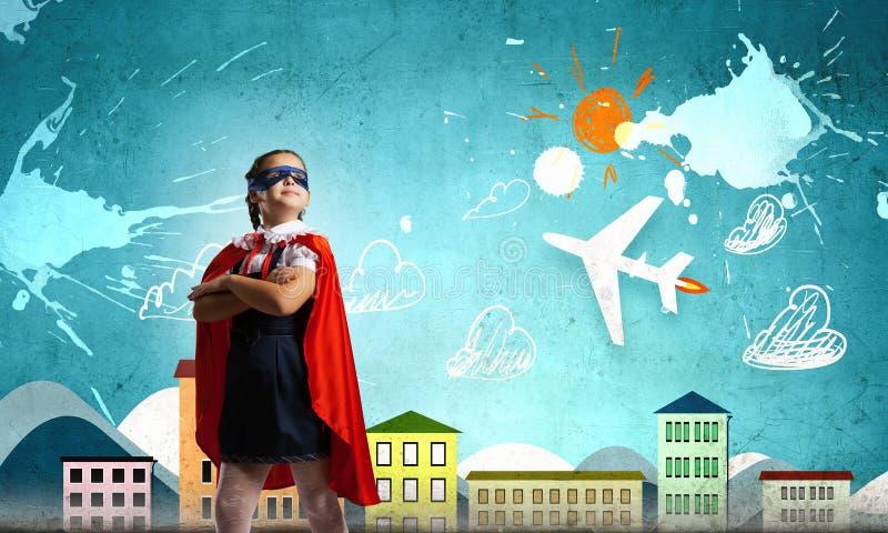 Petit superhero image libre de droits