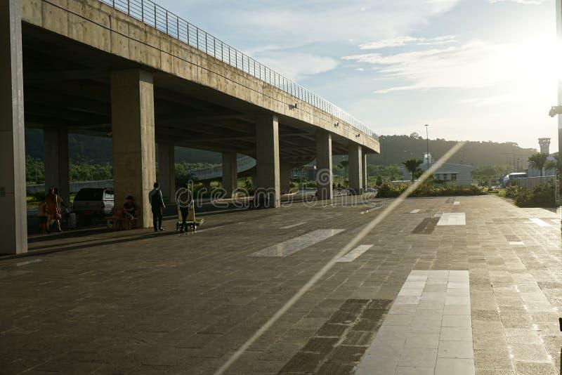 Petit terminal d'aéroport vietnamien images libres de droits