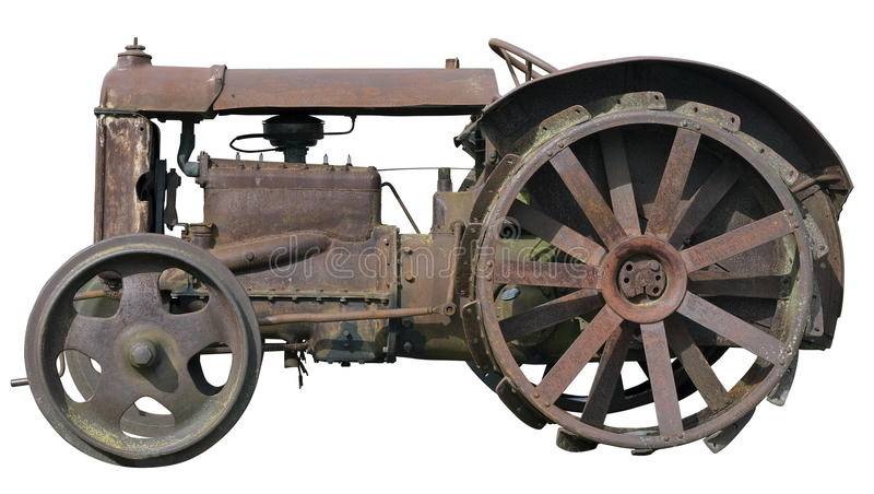 Petit tracteur rouillé image libre de droits