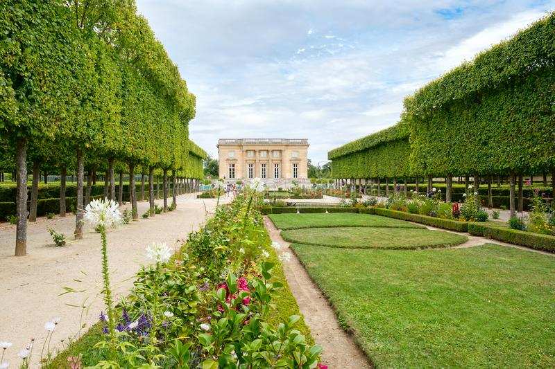 The Petit Trianon on the grounds of the Palace of Versailles nea. R Paris stock photography