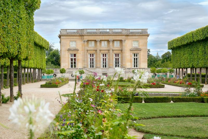The Petit Trianon on the grounds of the Palace of Versailles near Paris. The Petit Trianon chateau on the grounds of the Palace of Versailles near Paris stock image