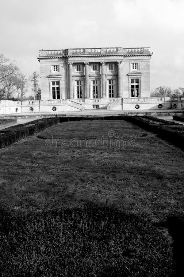 The Petit Trianon - Versailles. The Petit Trianon, built between 1762 and 1768 during the reign of Louis XV, is a small château located on the grounds of the royalty free stock photos
