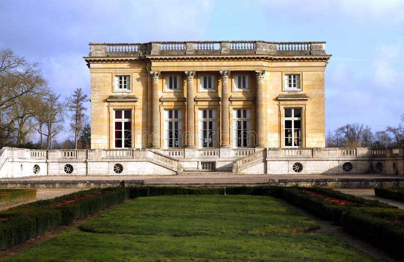 The Petit Trianon - Versailles. The Petit Trianon, built between 1762 and 1768 during the reign of Louis XV, is a small château located on the grounds of the stock image