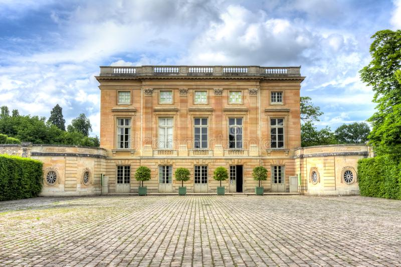 Petit Trianon in Versailles, Paris, France royalty free stock photos