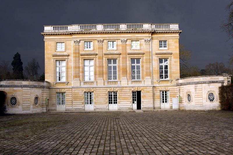 The Petit Trianon - Versailles. Petit Trianon small Trianon, built between 1762 and 1768 during the reign of Louis XV, is a small château located on the stock photography