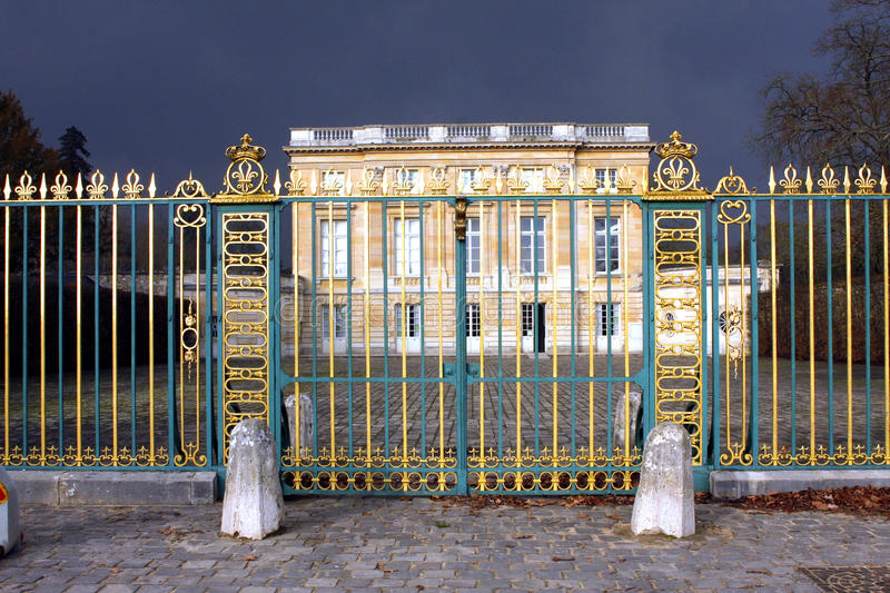 The Petit Trianon - Versailles. Petit Trianon small Trianon, built between 1762 and 1768 during the reign of Louis XV, is a small château located on the royalty free stock photo