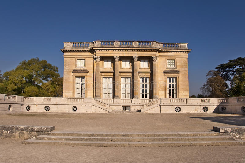 Petit Trianon w Versailles, Paryż zdjęcia stock