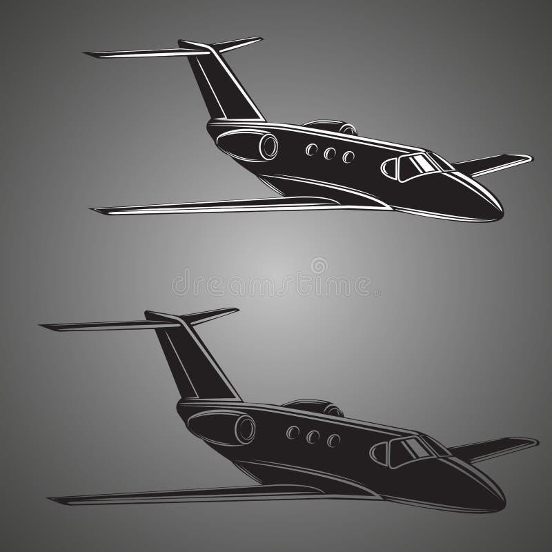 Petit vecteur de jet privé Illustration d'avion d'affaires illustration de vecteur