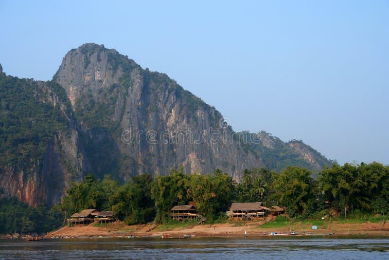 Petit village de lao photographie stock