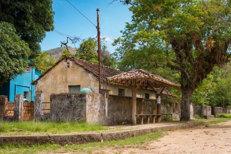 Petit village historique au Brésil image stock
