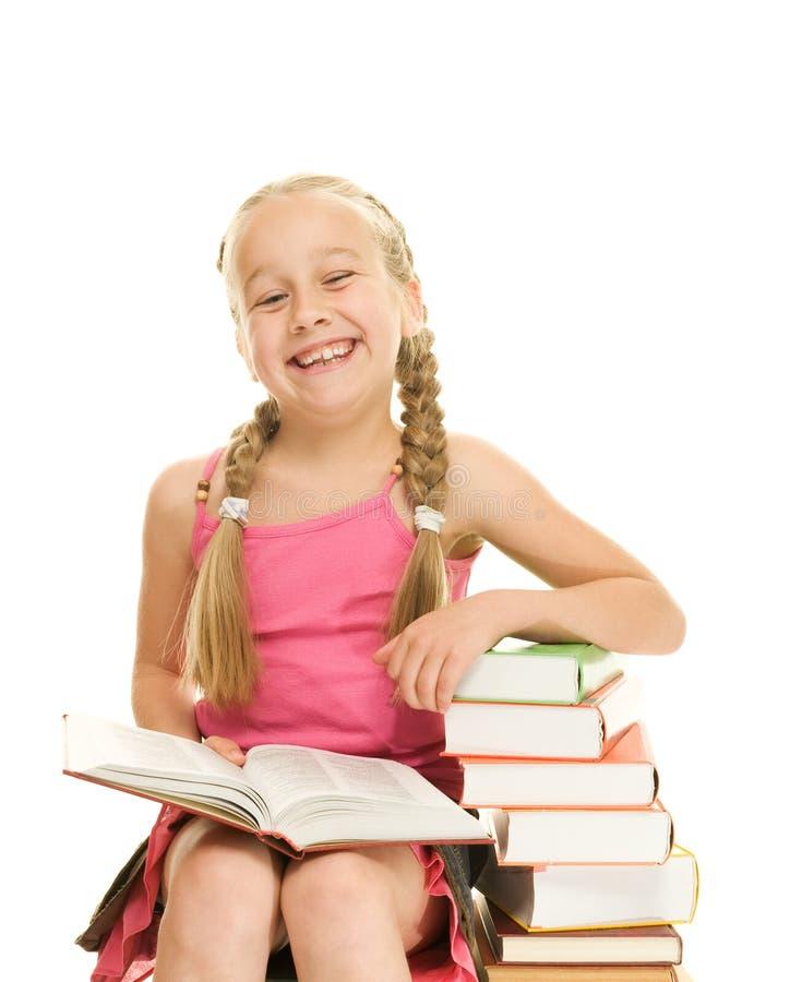 Petite écolière heureuse photos libres de droits