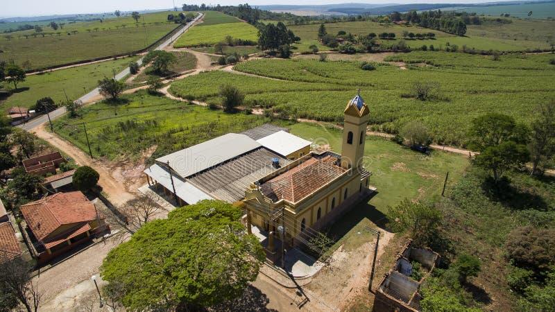 Petite église catholique victorienne, secteur municipal de Botucatu photo stock