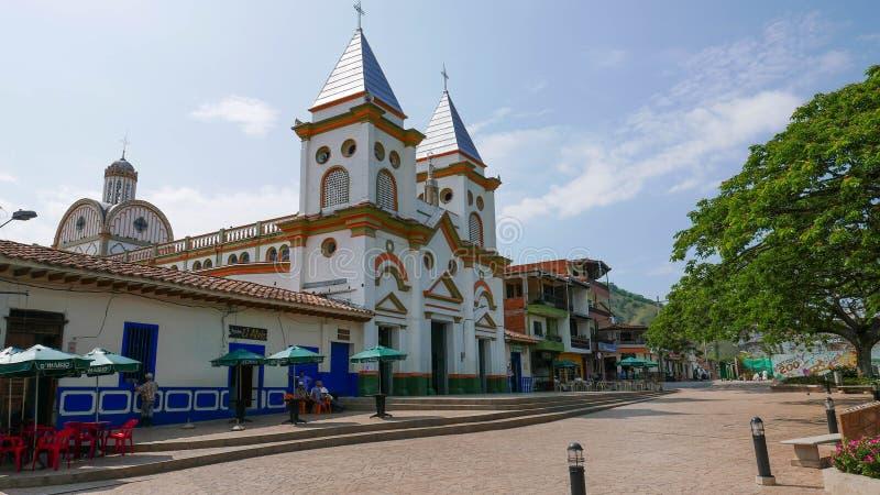 Petite église chez Hispania, Antioquia, Clombia photo stock