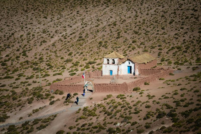 Petite ?glise de Machuca en San Pedro de Atacama, Chili images libres de droits