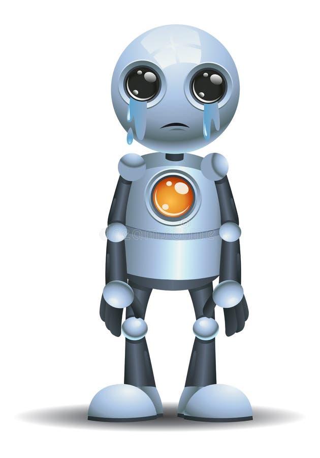 petite ?motion de robot triste en larme illustration libre de droits