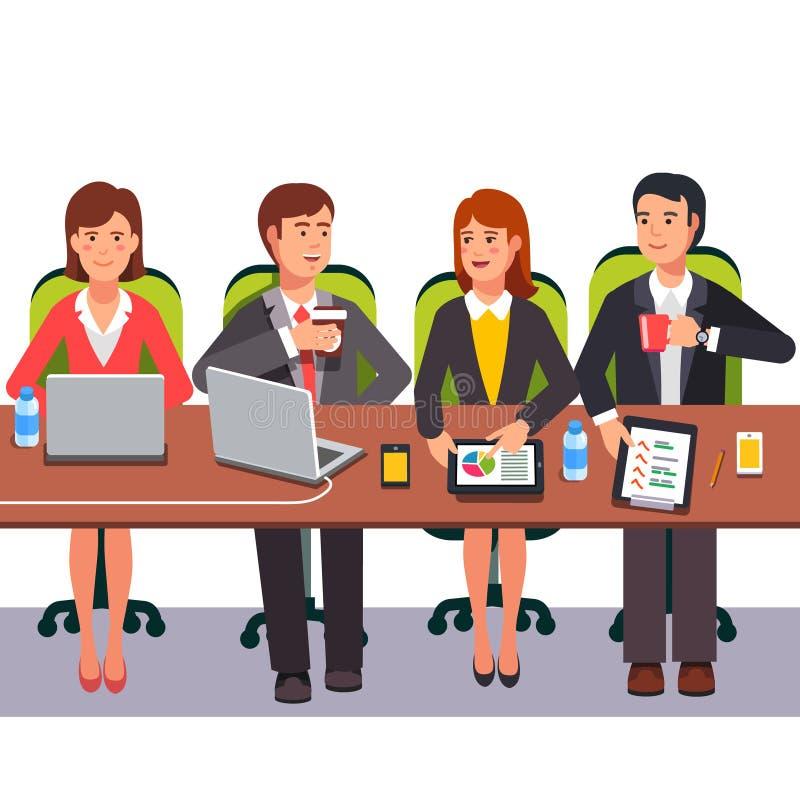 Petite équipe de collaboration travaillant ensemble illustration de vecteur