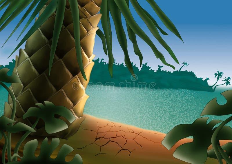 Petite île illustration libre de droits