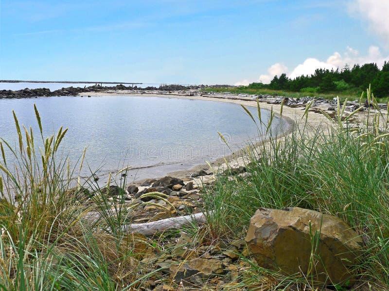 Petite baie près de Rockaway Orégon photo libre de droits