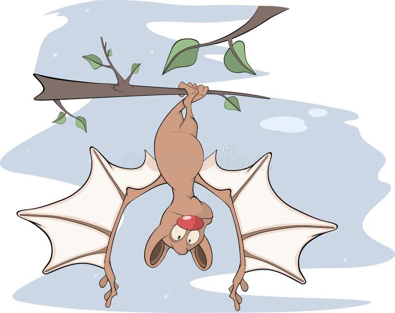 Petite bande dessinée gaie de chauve-souris illustration stock