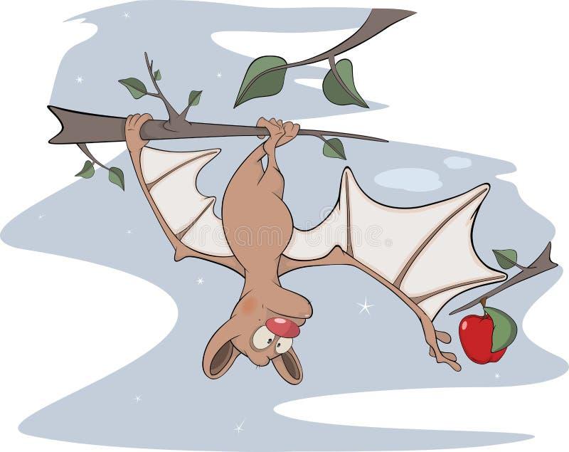 Petite 'bat' gaie. Bande dessinée illustration libre de droits