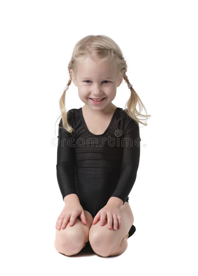 Petite belle fille de gymnaste photos stock