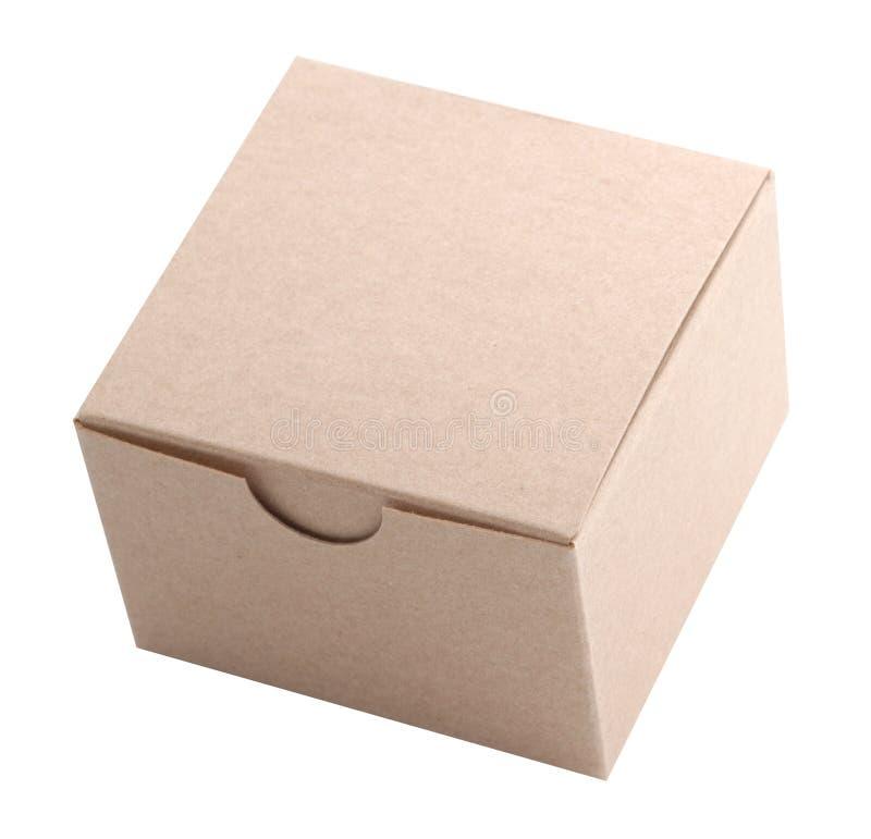 Petite boîte en carton, d'isolement image libre de droits