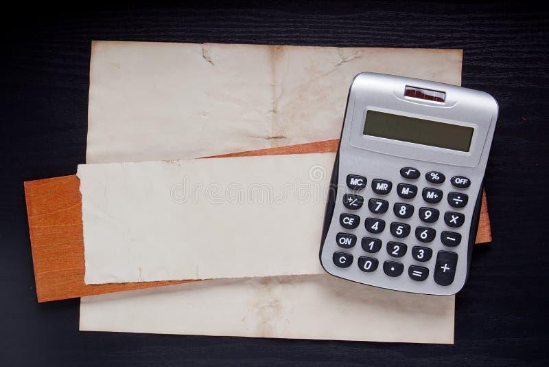 Petite calculatrice de bureau image libre de droits