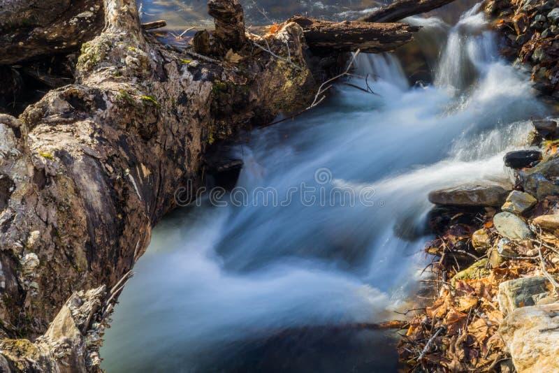 Petite cascade d'isolement dans Ridge Mountains bleu de la Virginie, Etats-Unis photographie stock libre de droits