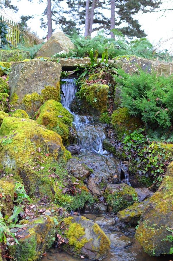 petite cascade dans un jardin anglais photo stock image du vert outside 49420850. Black Bedroom Furniture Sets. Home Design Ideas