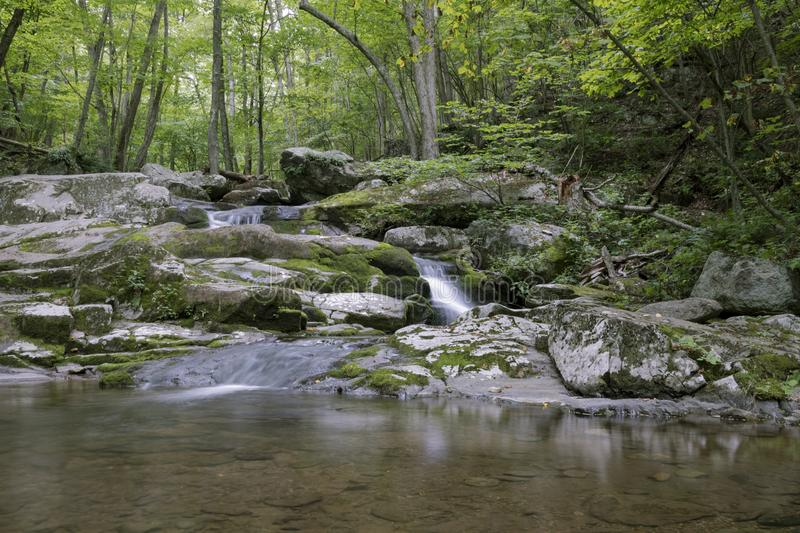 Petite cascade en parc national de Shenandoah photo stock
