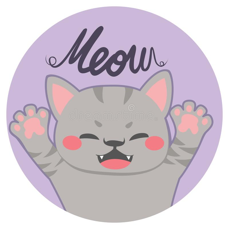 Petite Cat Meow illustration stock