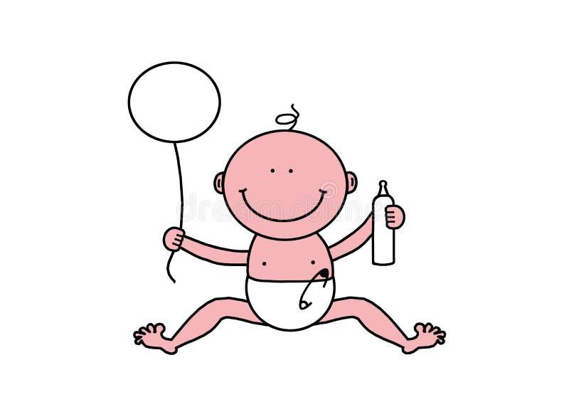 Petite chéri mignonne illustration stock
