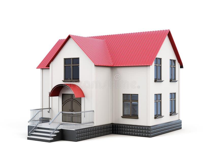 Petite Chambre d'isolement sur le fond blanc rendu 3d illustration de vecteur