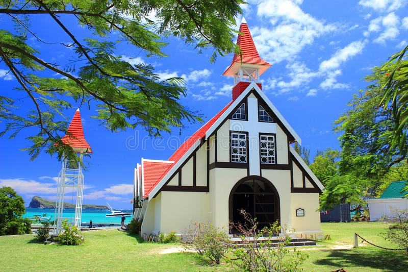 Petite chapelle, chapeau Malheureux, Îles Maurice photos stock
