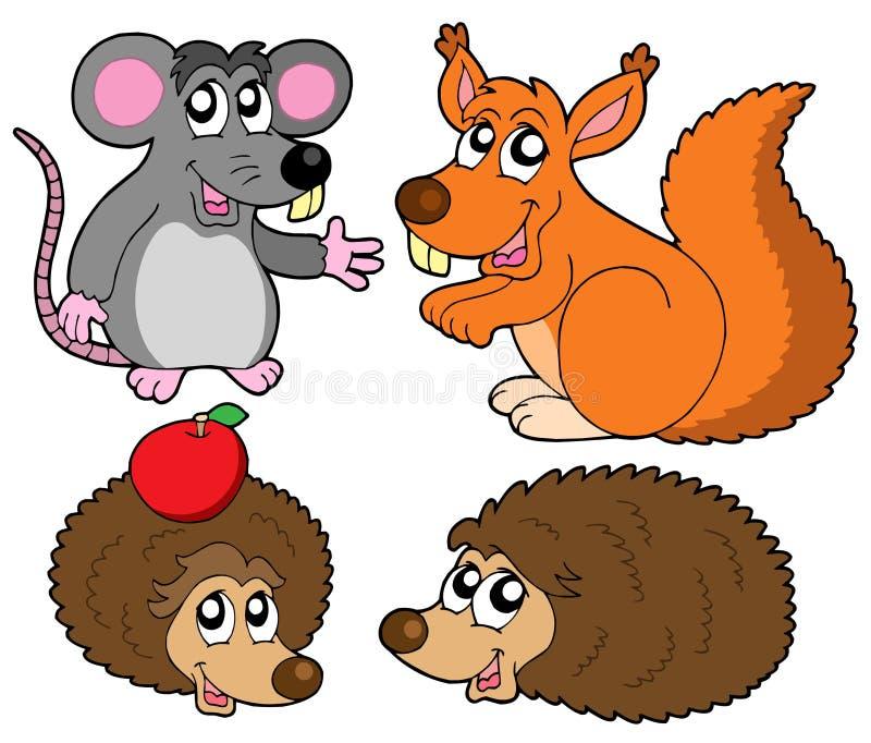 Petite collection d'animaux illustration de vecteur