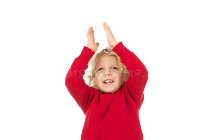 Petite coupure heureuse d'enfant images stock