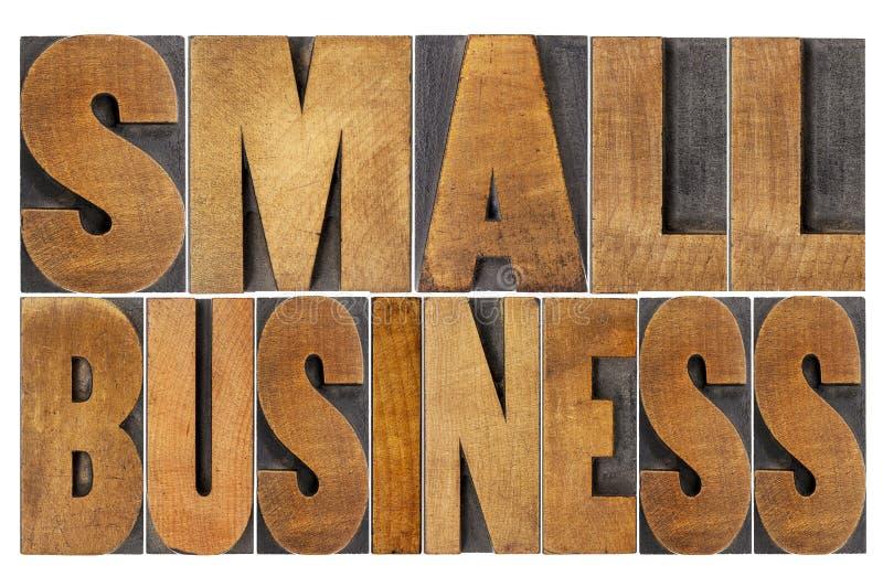 Petite entreprise dans le type en bois photos libres de droits