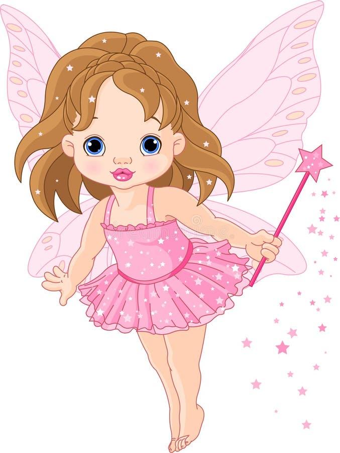 Petite fée mignonne de chéri illustration stock