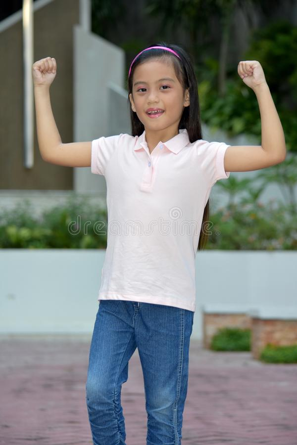 Free Petite Filipina Female And Muscles Stock Photos - 140841863