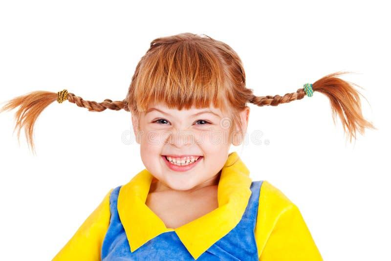 Petite fille émotive photographie stock