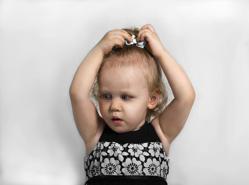 Petite fille étonnée image libre de droits