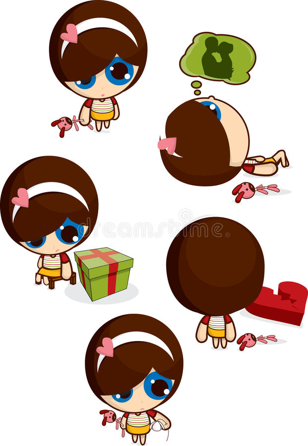 Petite fille adorable illustration stock
