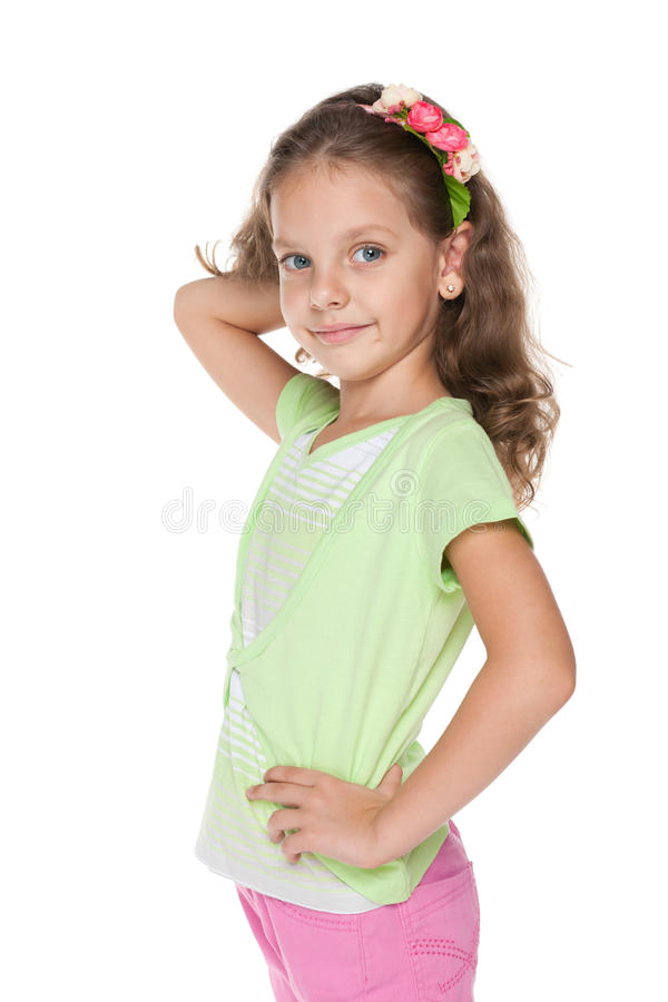 Petite fille adorable photos stock
