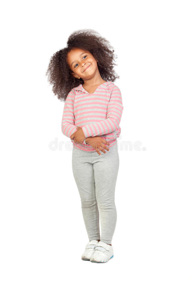 Petite fille africaine adorable photo stock