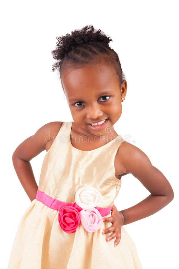 Petite fille africaine adorable images stock