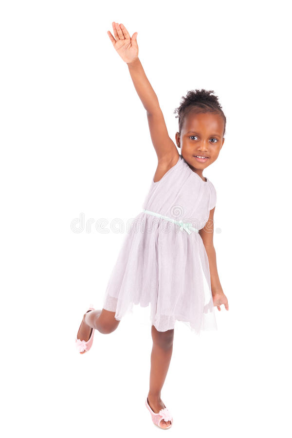 Petite fille africaine adorable image stock