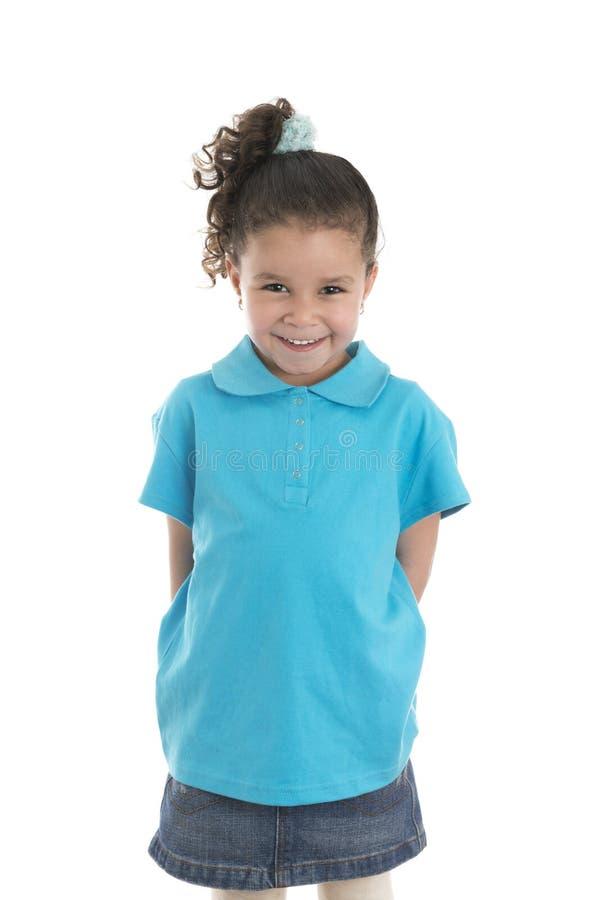 Petite fille avec le beau sourire image stock