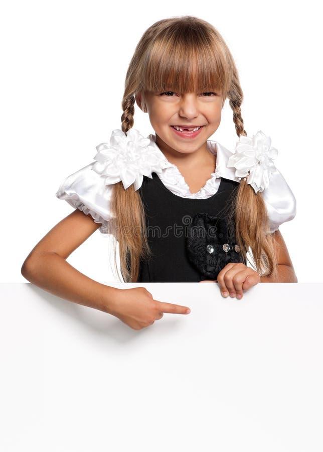 Petite fille avec le blanc blanc photo libre de droits