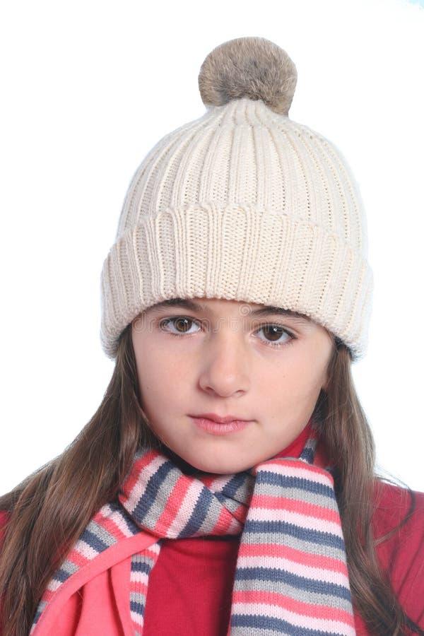 Petite fille avec le vêtement de l'hiver photo stock